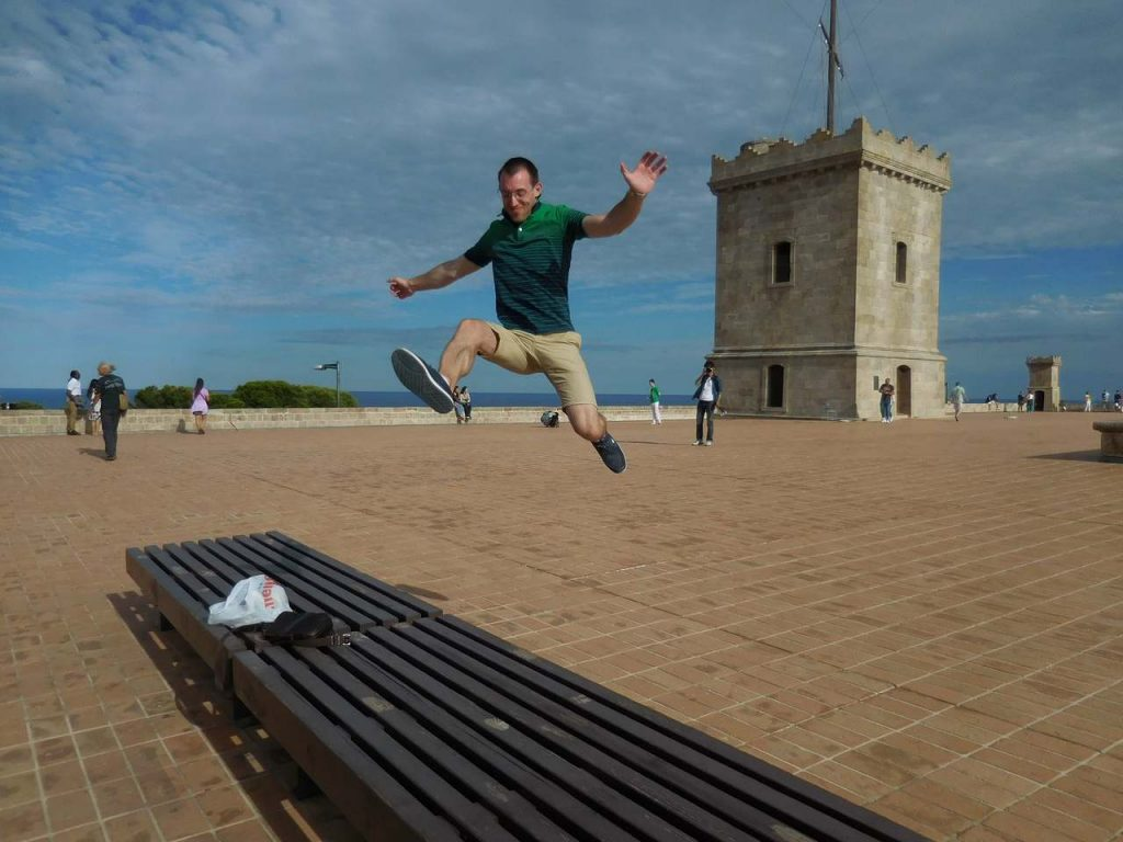 barcelona-spain-montjuic-castle-jumping-svet-watchtower-signal