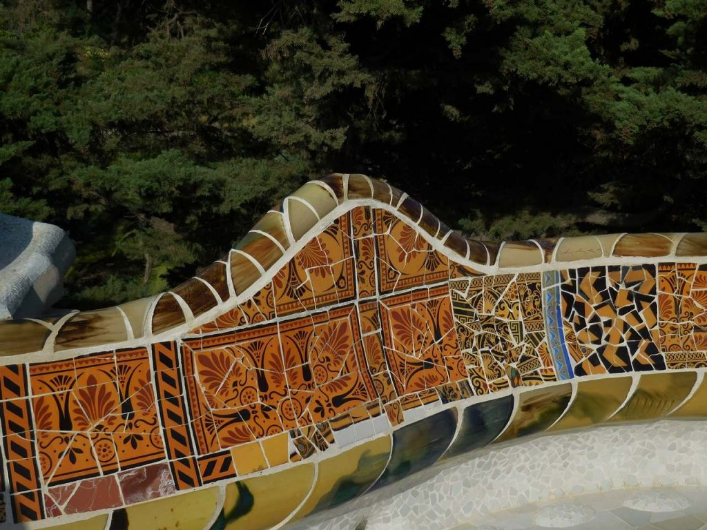 barcelona-spain-park-guell-inlaid-benches