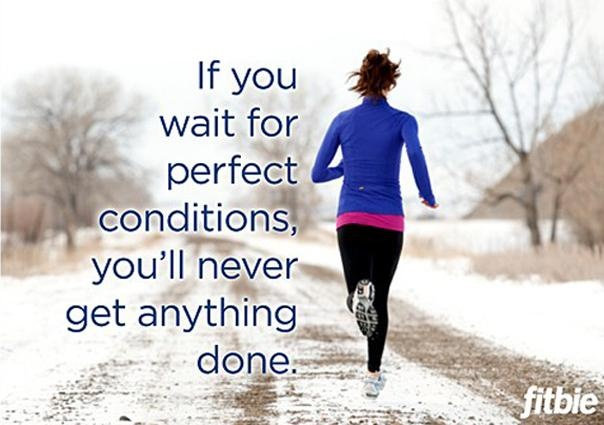 working out-snow-quote-running-fitbie