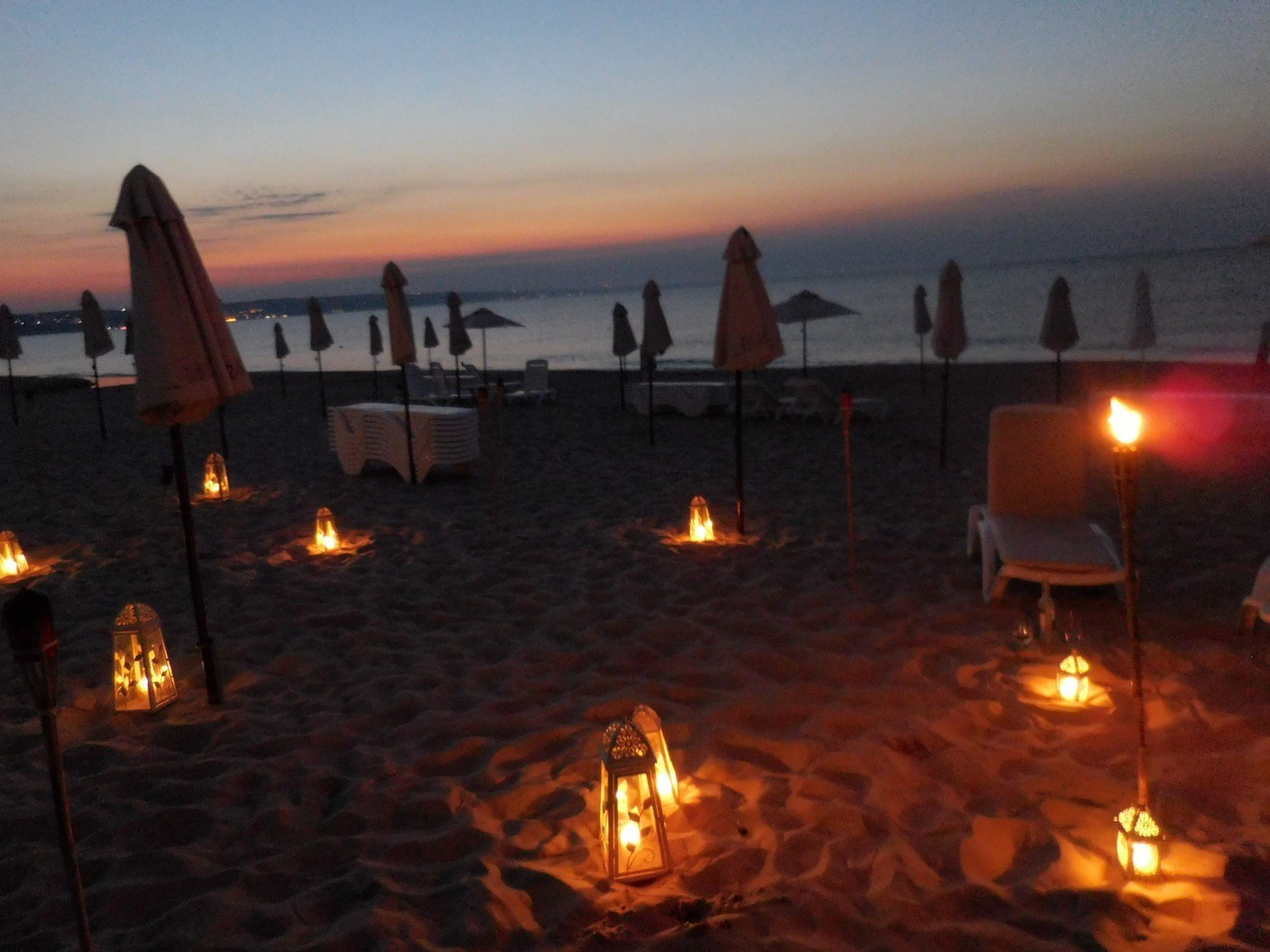 kranevo, amazing beach at night, bulgaria, europe