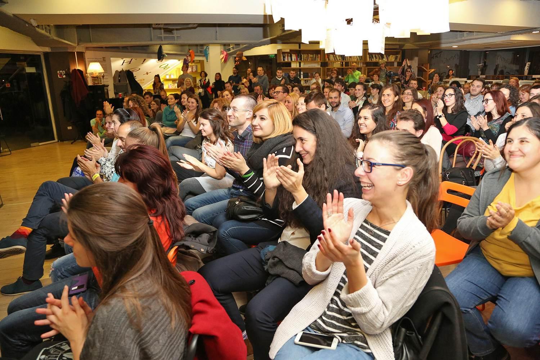 TOS, audience cheering gleefully, sofia, bulgaria