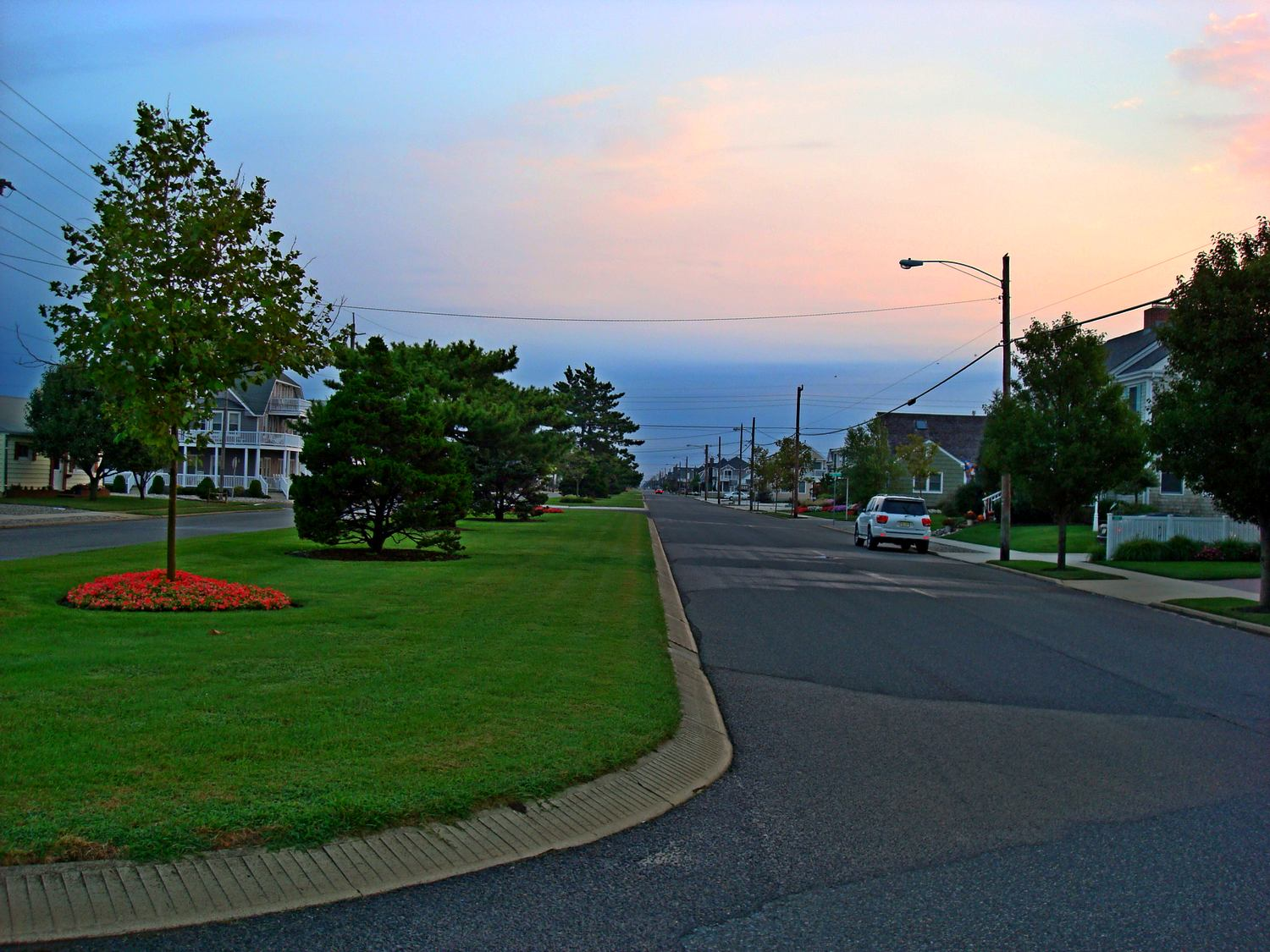 work and travel, usa, stone harbor, boulevards, sunset