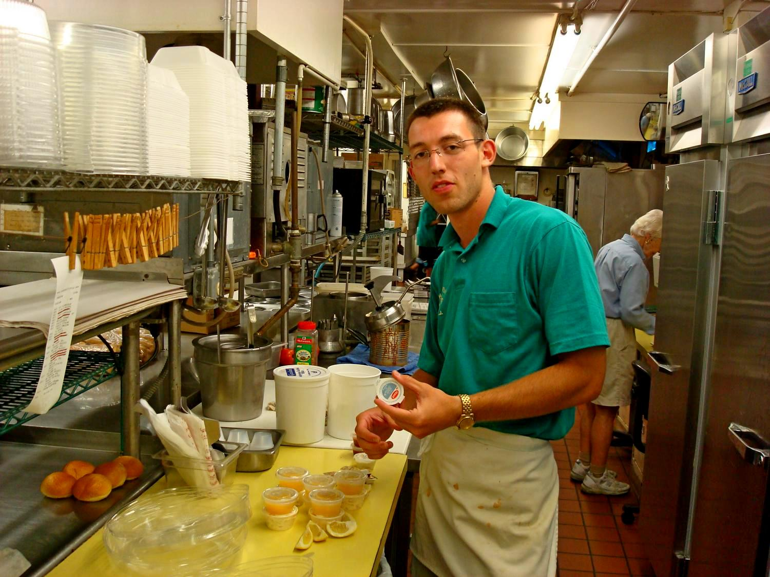 work and travel, usa, svet, prep cook, seafood restaurant, dips and side dishes