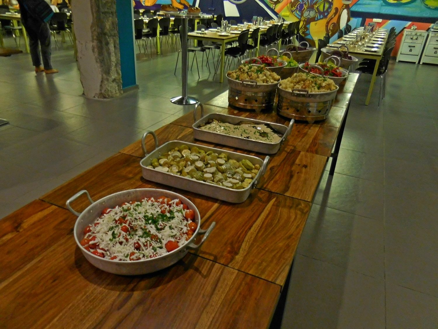 Food, Abraham hostel, shabbat dinner