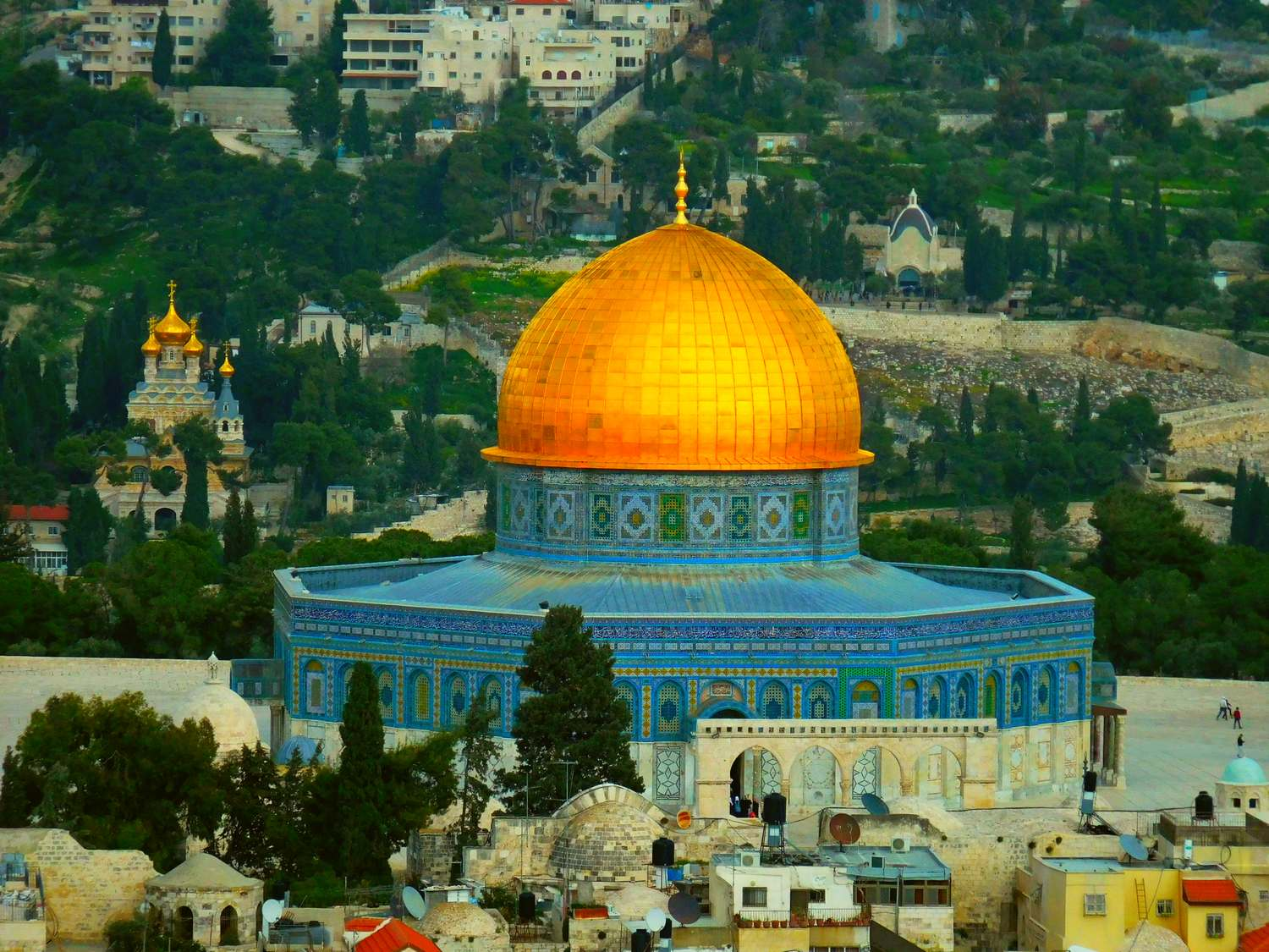 History of Jerusalem, Dome of the Rock, aerial view