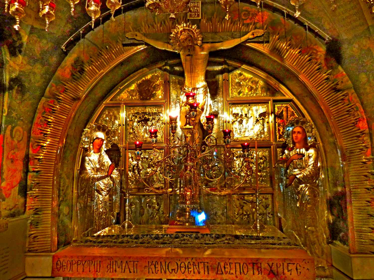 History of Jerusalem, old city, church of the holy sepulchre, altar of crucifixion, golgotha