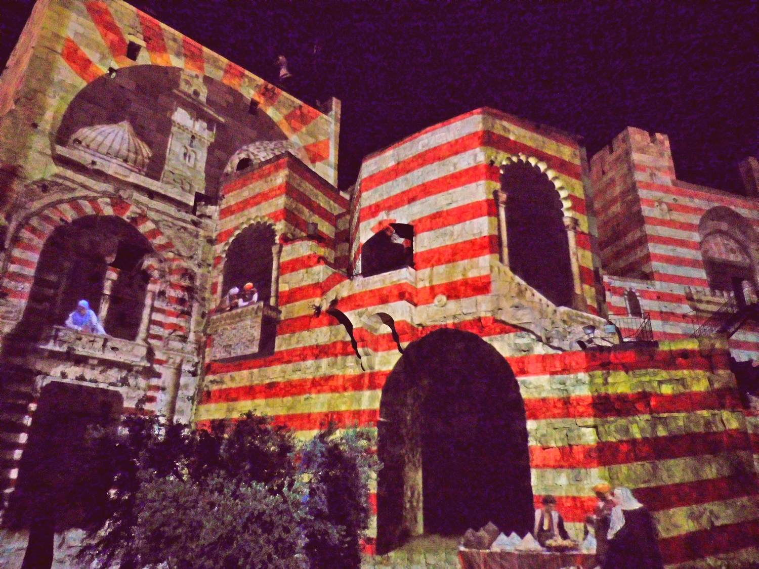 History of Jerusalem, tower of david, light show, arabic tents