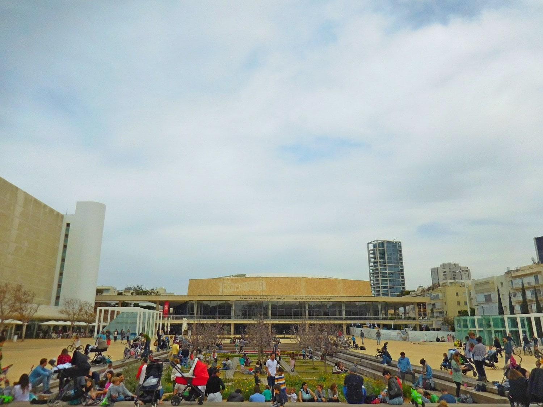 tel aviv, habima theatre, plaza, sandbox