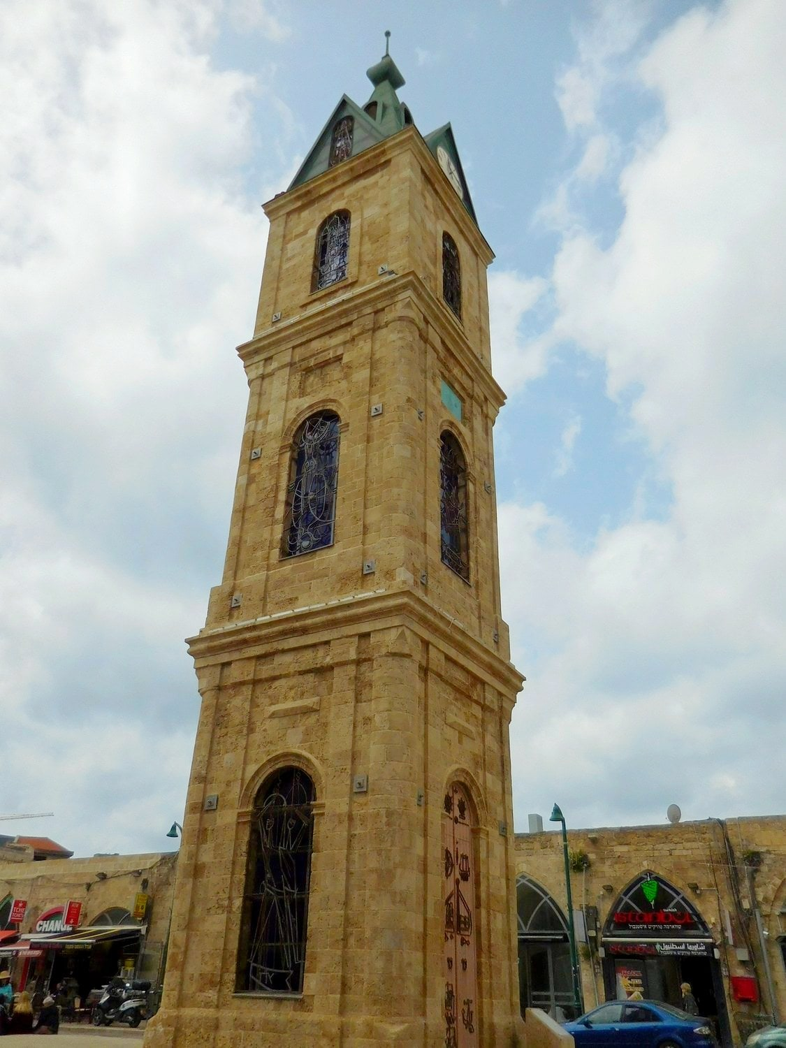 tel aviv, old jaffa, clock tower, french story