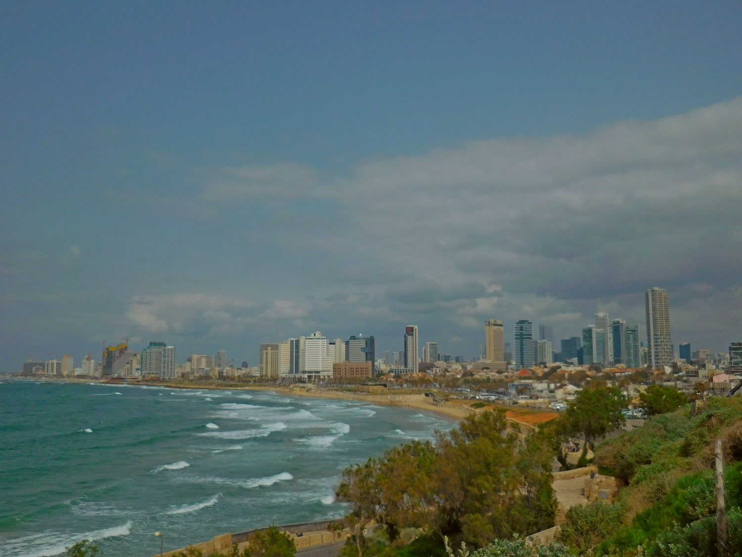 tel aviv panorama, old jaffa hill