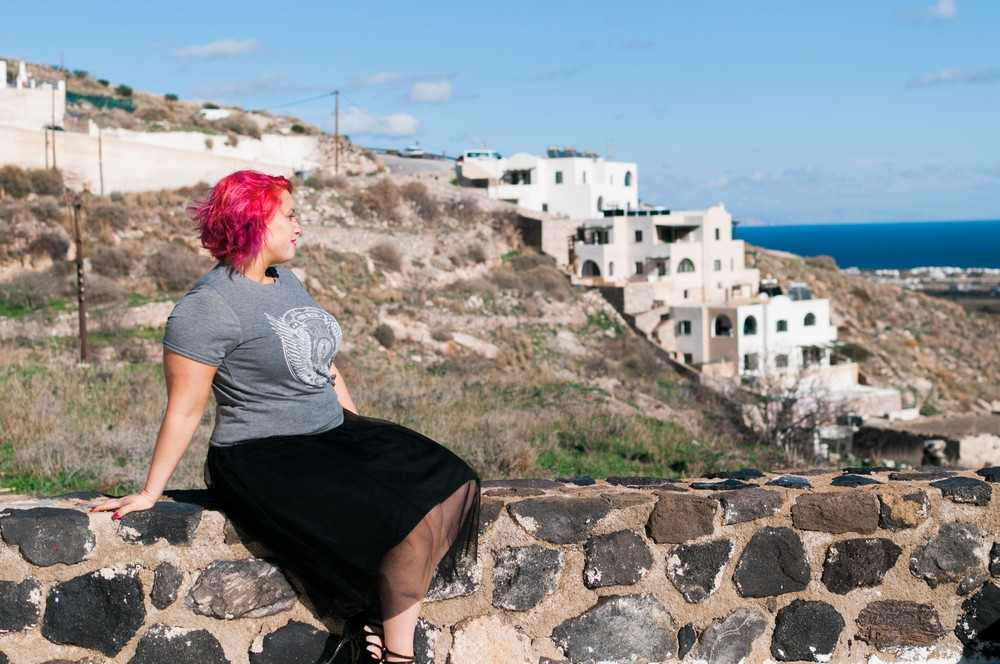 Ellie Burscough, Young Entrepreneurs Talk, Santorini, Panorama, Greece