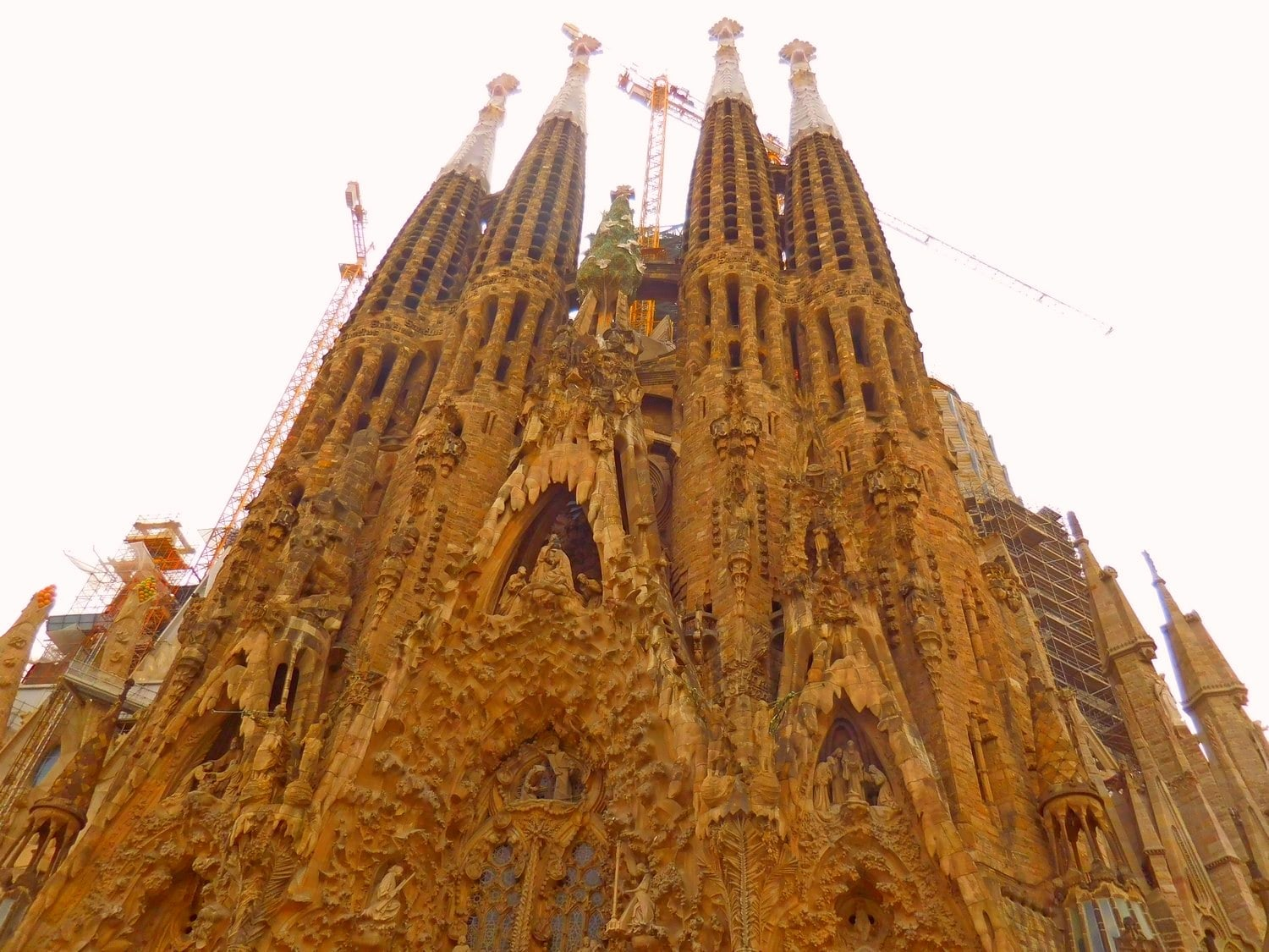Sagrada Familia, Barcelona, Exterior, Nativity Facade, Under Construction
