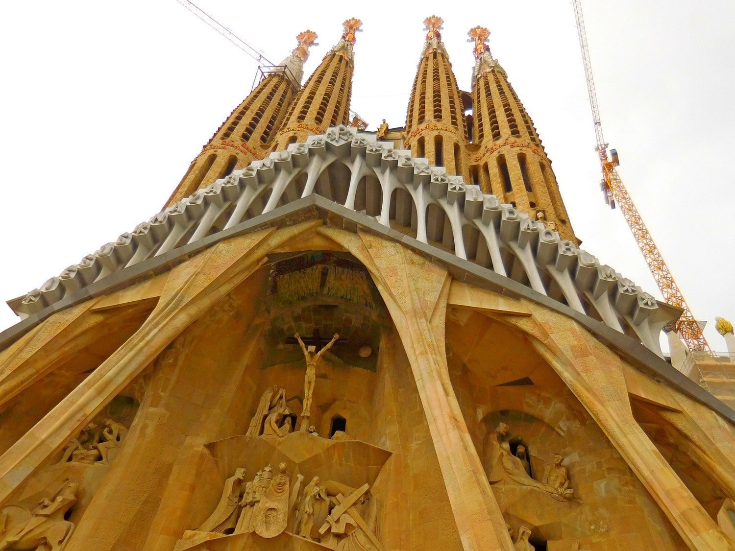 Sagrada Familia, Barcelona, Spain, Exterior, Passion Facade, West Side