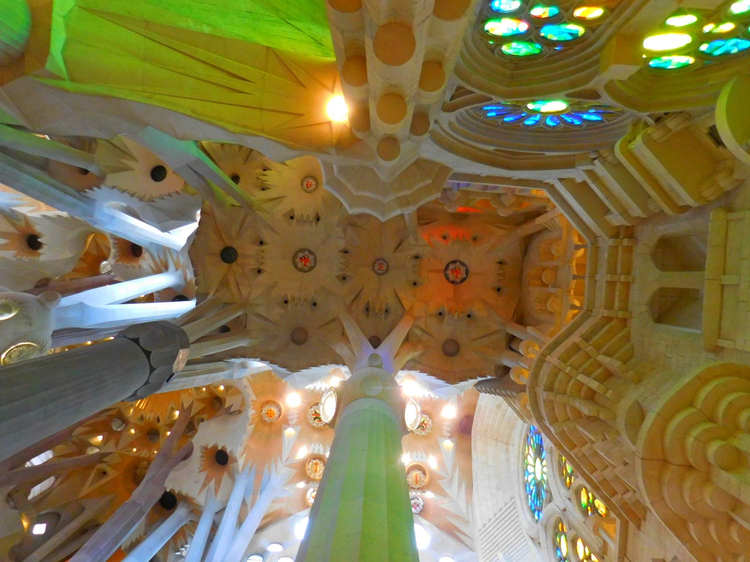 Sagrada Familia, Barcelona, Interior, Elaborate Roof