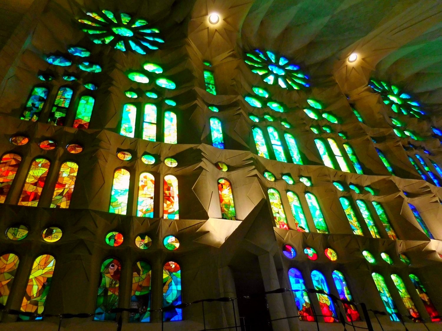 Sagrada Familia, Barcelona, Interior, Stained Glass, East Side