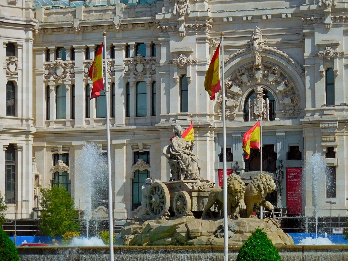 Madrid, Spain, Cibeles Fountain, City Hall