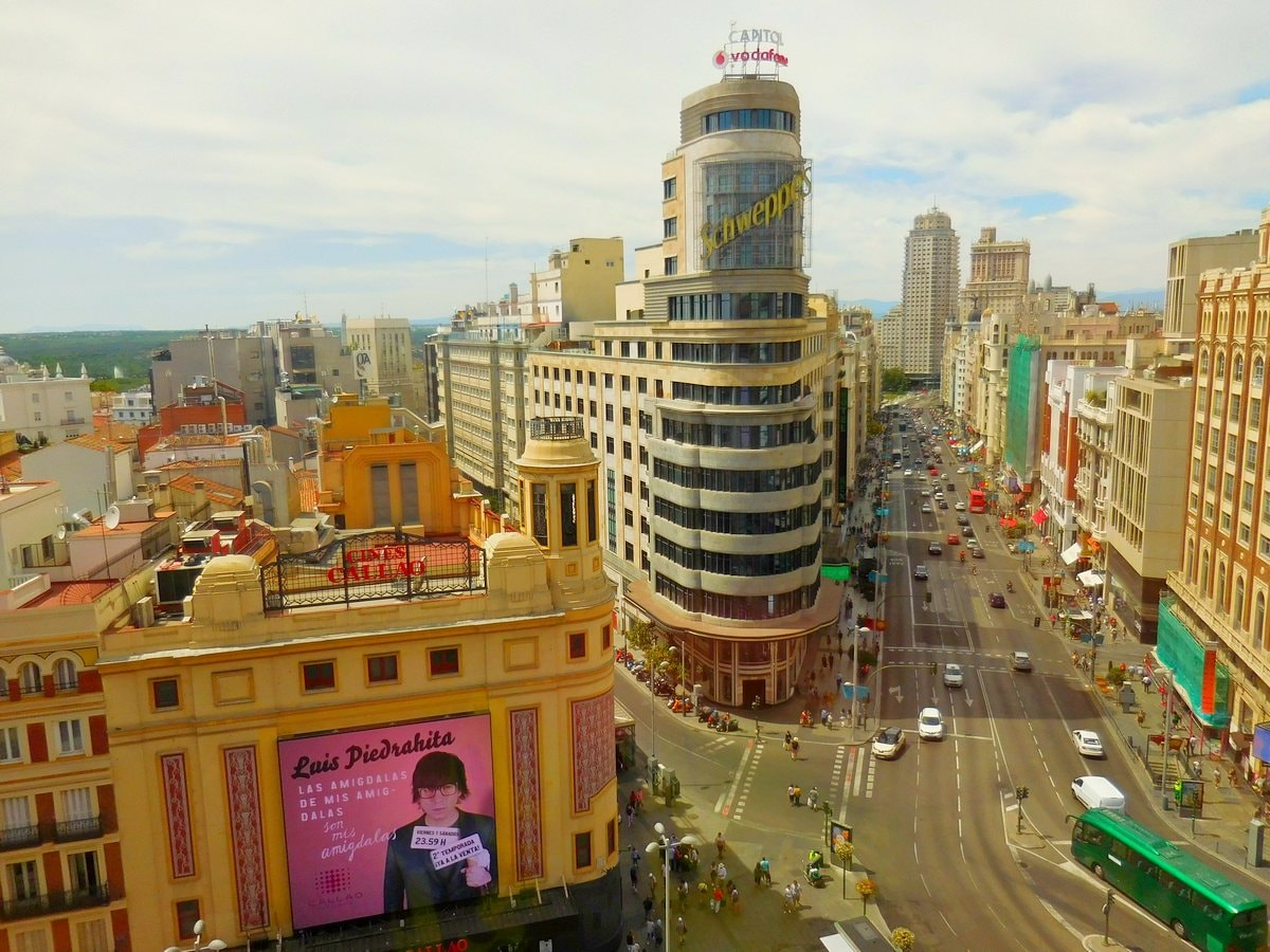Madrid, Spain, El Corte Ingles, Gran Via