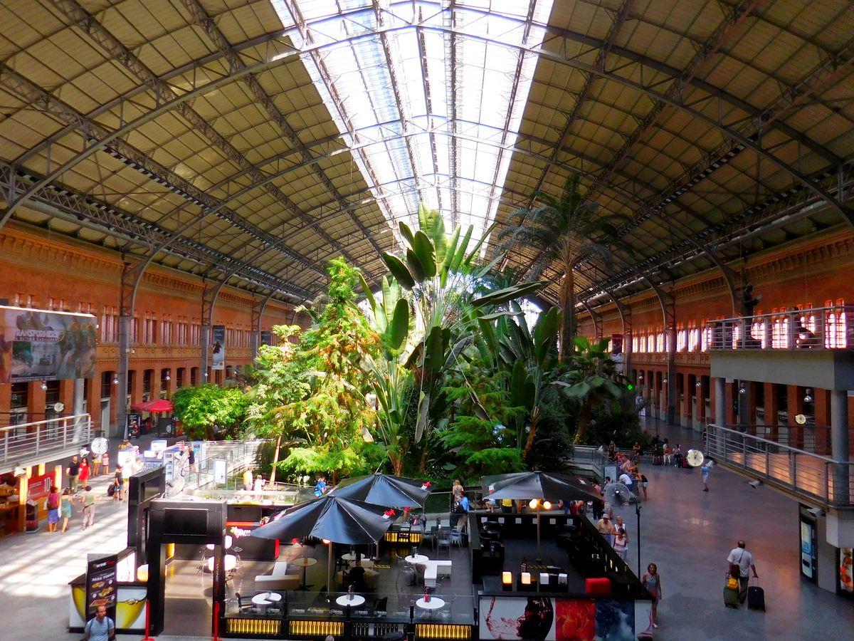 Madrid, Spain, Estacion Atocha, Tropical Garden