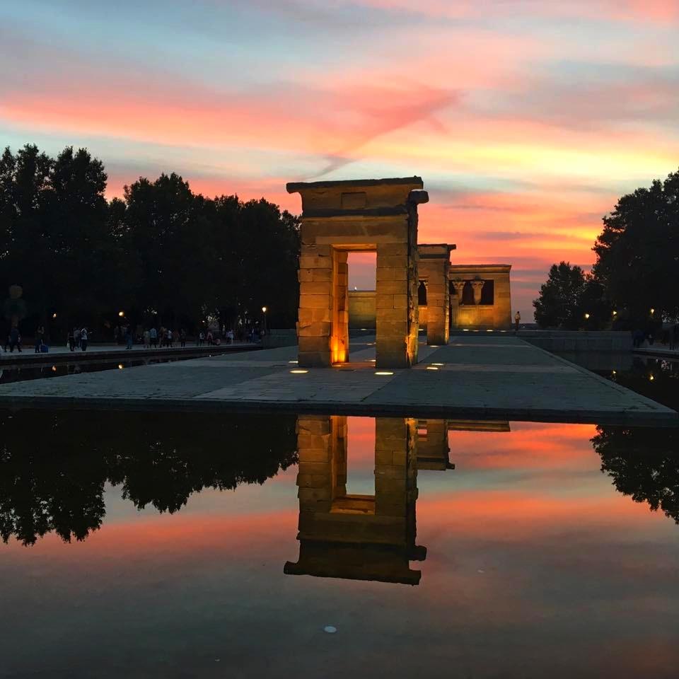 Madrid, Spain, Parque del Oeste, Templo de Debod