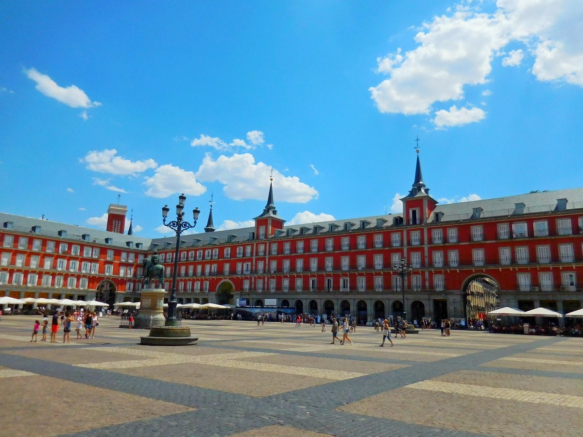 Madrid, Spain, Plaza Mayor, Bright Day