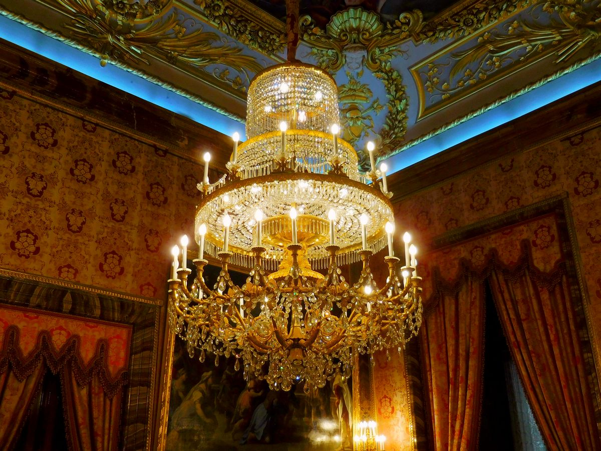 Madrid, Spain, Royal Palace, Resplendent Chandelier