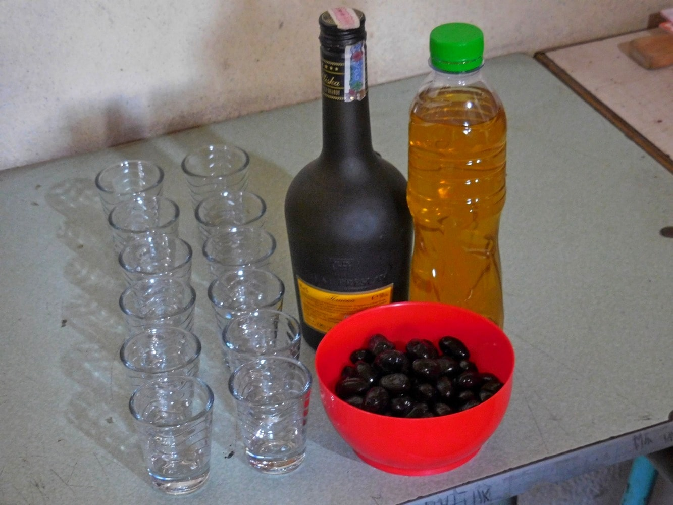 Home-made Fig Rakia, Kavarna Region, Olives, Bulgaria