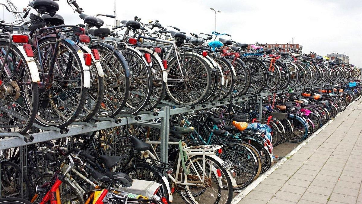 Bike Parking, Delft, South Holland, The Netherlands