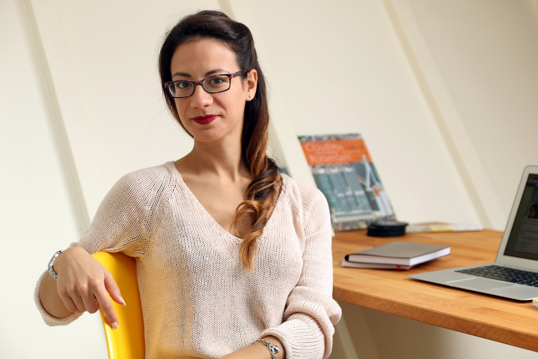 Young Entrepreneurs Talk, Maria Rosaria di Lecce, Rosie, Sitting, Desk, Notebooks