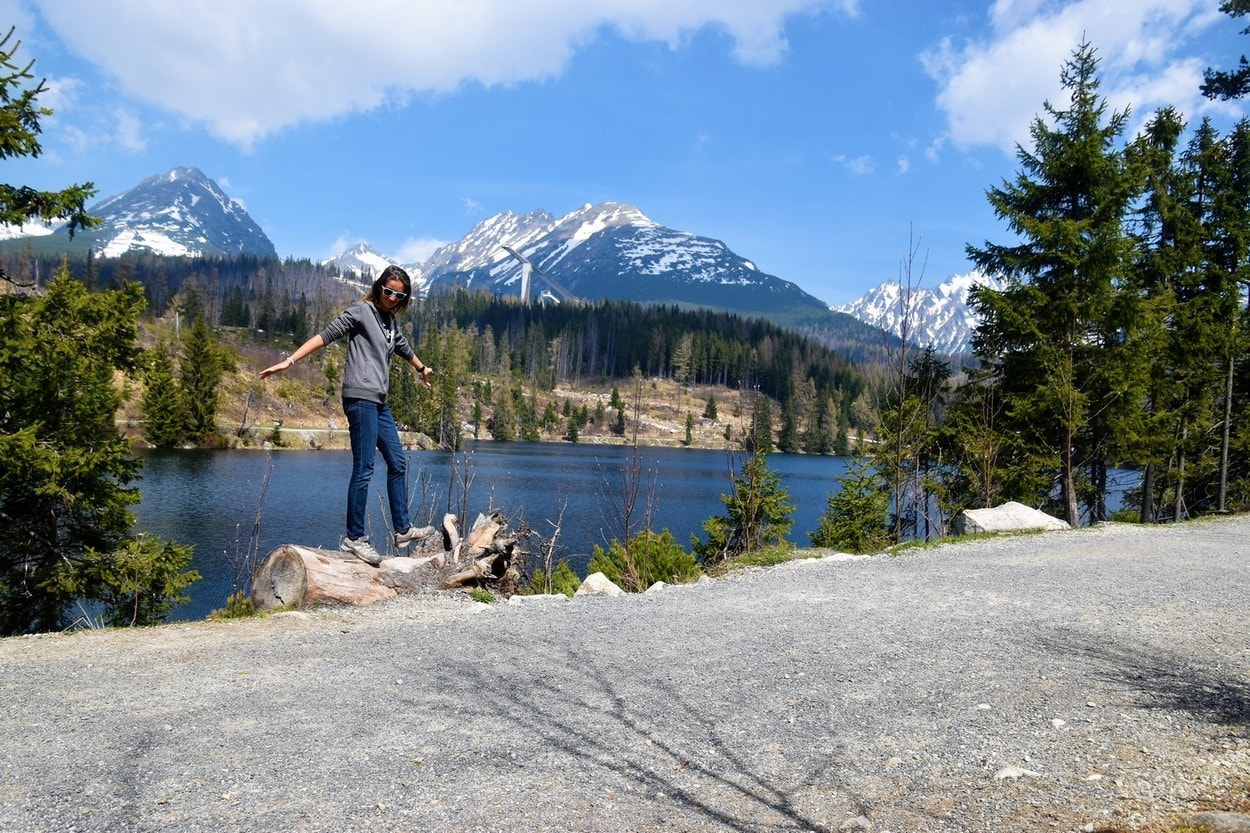 Young Entrepreneurs Talk, Alexandra Kovacova, Mountain Tops with Lake, Tatras